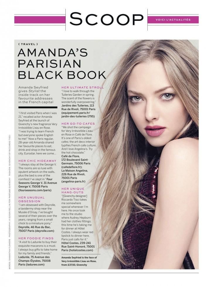 Amanda Seyfried – Stylist UK Magazine (March 2014)