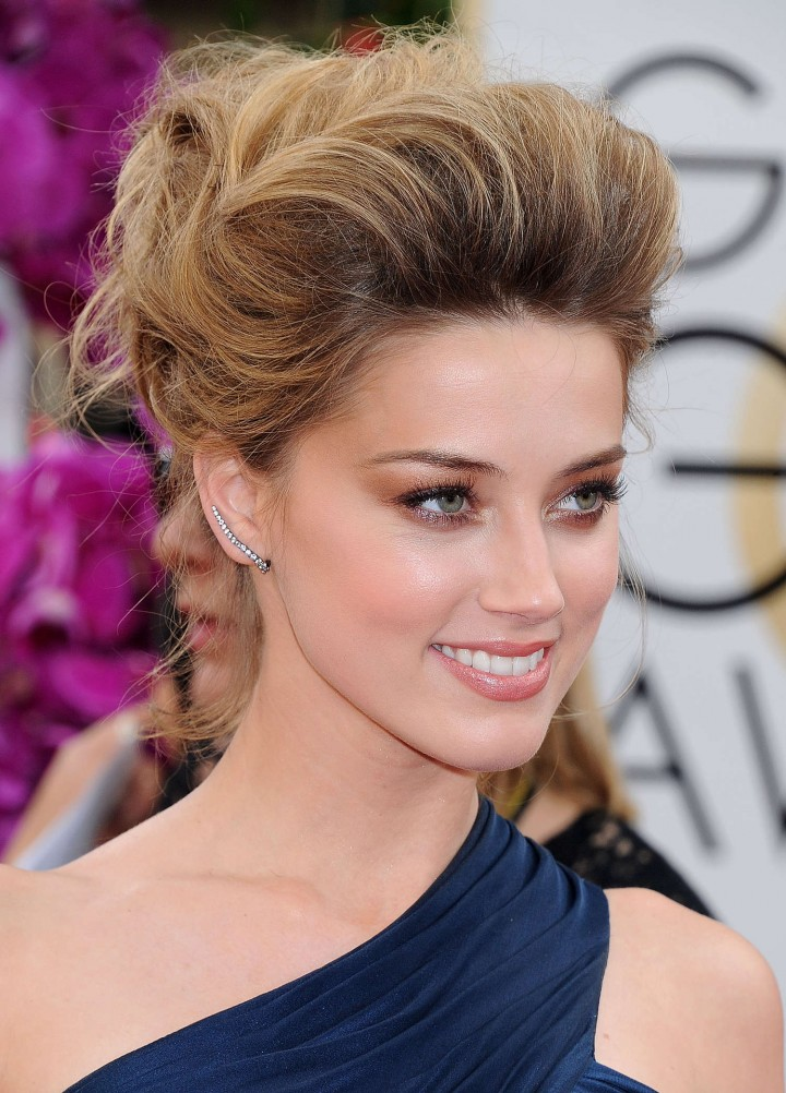 Amber Heard: Golden Globe 2014 Awards -01