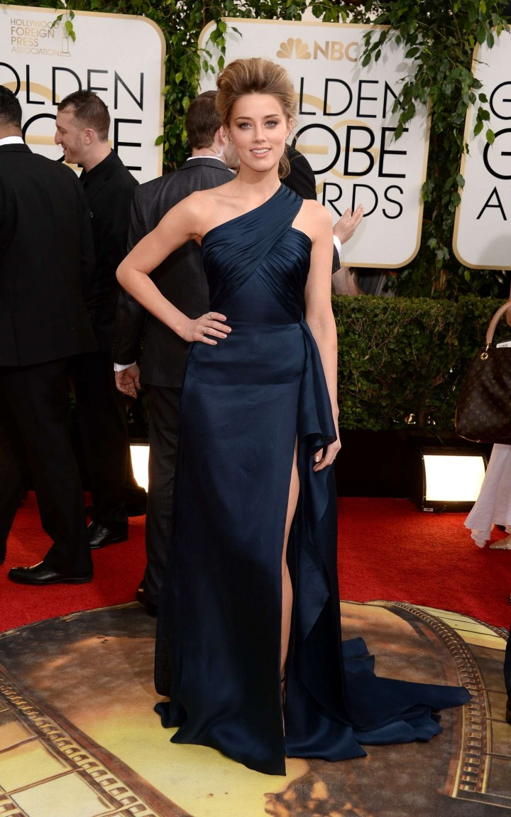 Amber Heard: Golden Globe 2014 Awards -02