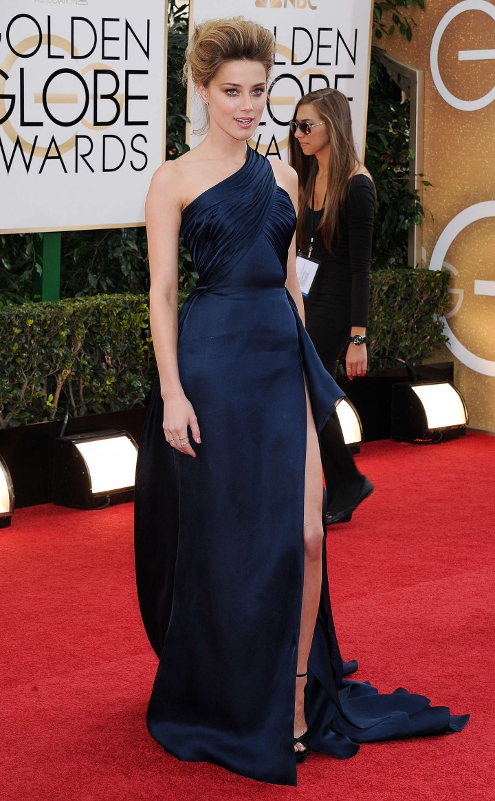 Amber Heard: Golden Globe 2014 Awards -04