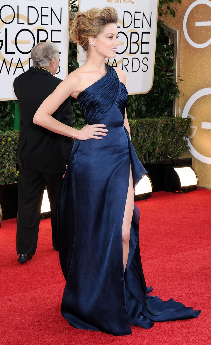 Amber Heard: Golden Globe 2014 Awards -06