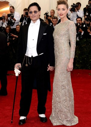 Amber Heard and Johnny Depp: Met Gala 2014 -04