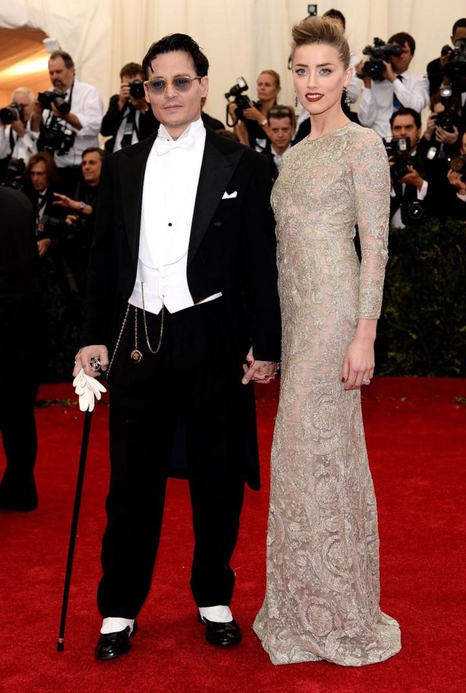 Amber Heard and Johnny Depp: Met Gala 2014 -04
