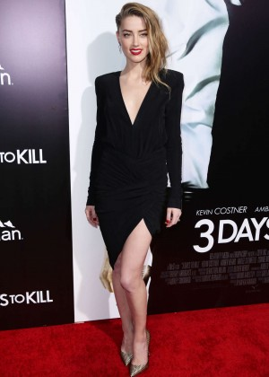 Amber Heard: 3 Days to Kill Hollywood Premiere -01