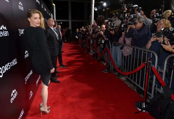 Amber Heard: 3 Days to Kill Hollywood Premiere -09