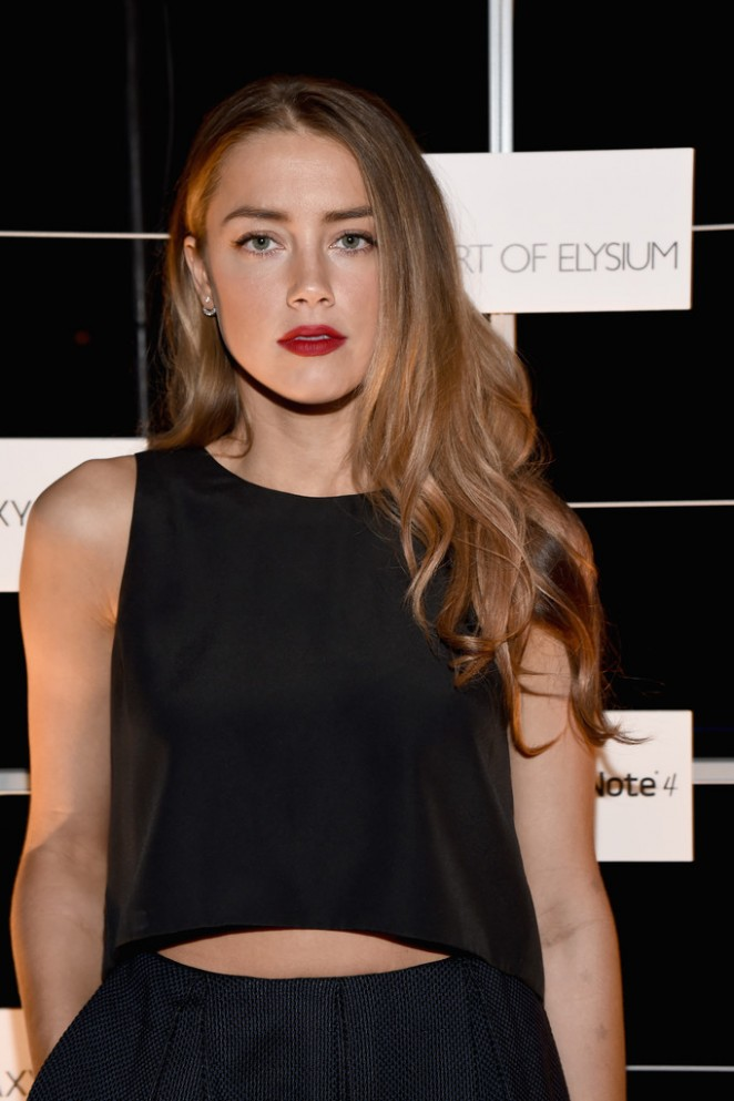 Amber Heard - 'The Note Pad' Powered by the Samsung Galaxy Note 4 in Los Angeles