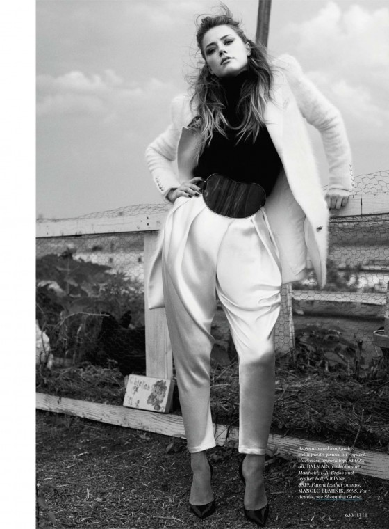 Elle Magazine AMBER HEARD July 2015