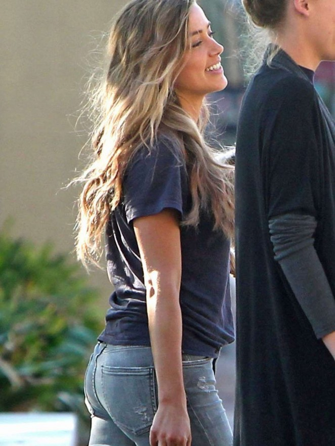 Amber Heard in Jeans out in Savannah