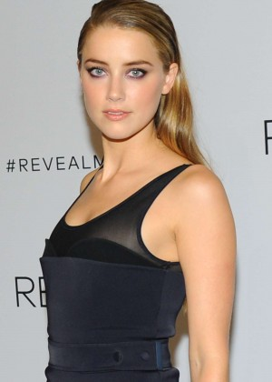Amber Heard - REVEAL Calvin Klein Fragrance Launch in New York
