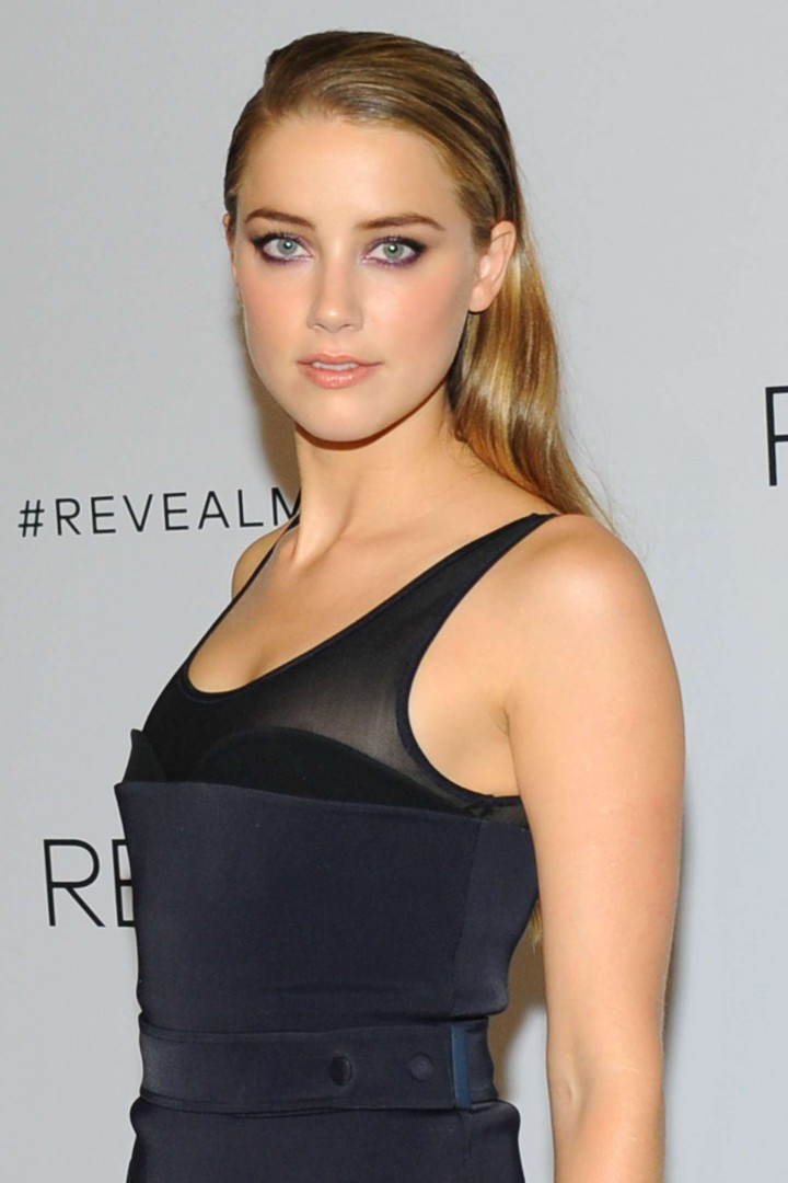 Amber Heard - REVEAL Calvin Klein Fragrance Launch in New York