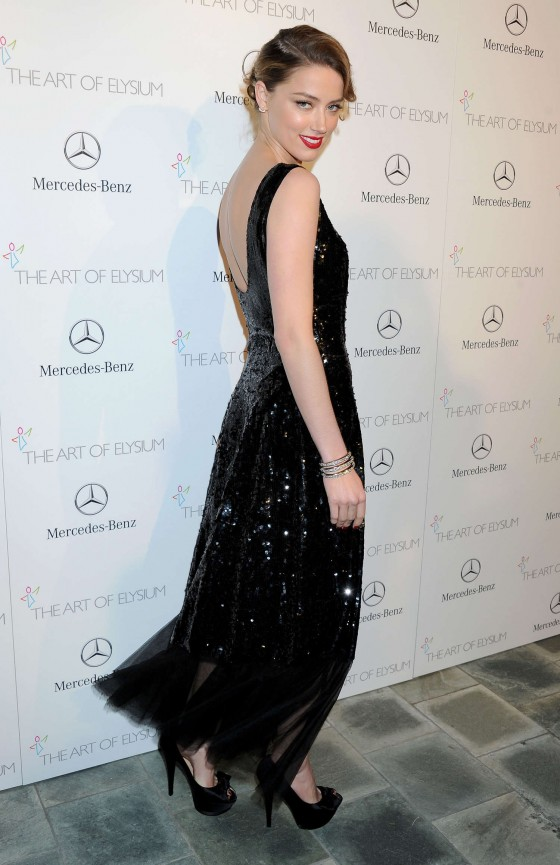 Amber Heard Photos: 2014 The Art of Elysiums 7th Annual HEAVEN Gala -09