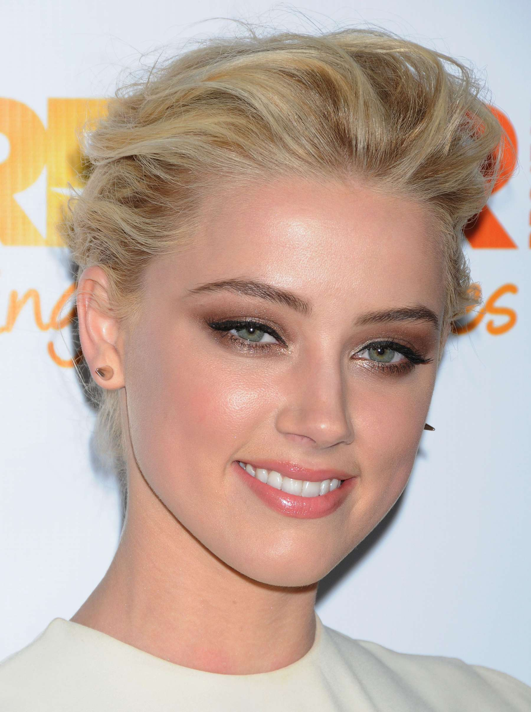 Amber Heard White Dress At The Trevor Projects 2011in La