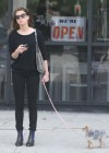 Amber Heard walking her dog in LA -02