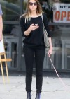 Amber Heard walking her dog in LA -05