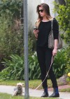 Amber Heard walking her dog in LA -07