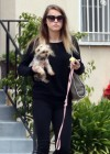 Amber Heard walking her dog in LA -09