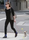 Amber Heard walking her dog in LA -12