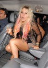 Amelia Lily leaving her 18th birthday party at Mahiki nightclub in London
