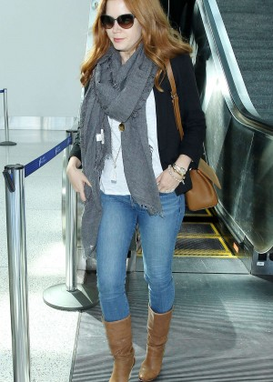 Amy Adams in Jeans at LAX Airport in Los Angeles