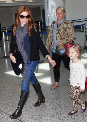 Amy Adams in Jeans at LAX in LA