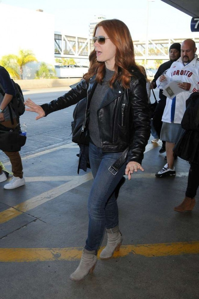 Amy Adams in Jeans at LAX -05