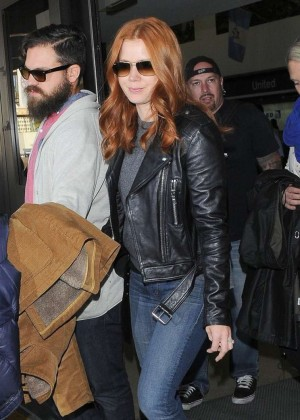 Amy Adams in Jeans at LAX in Los Angeles