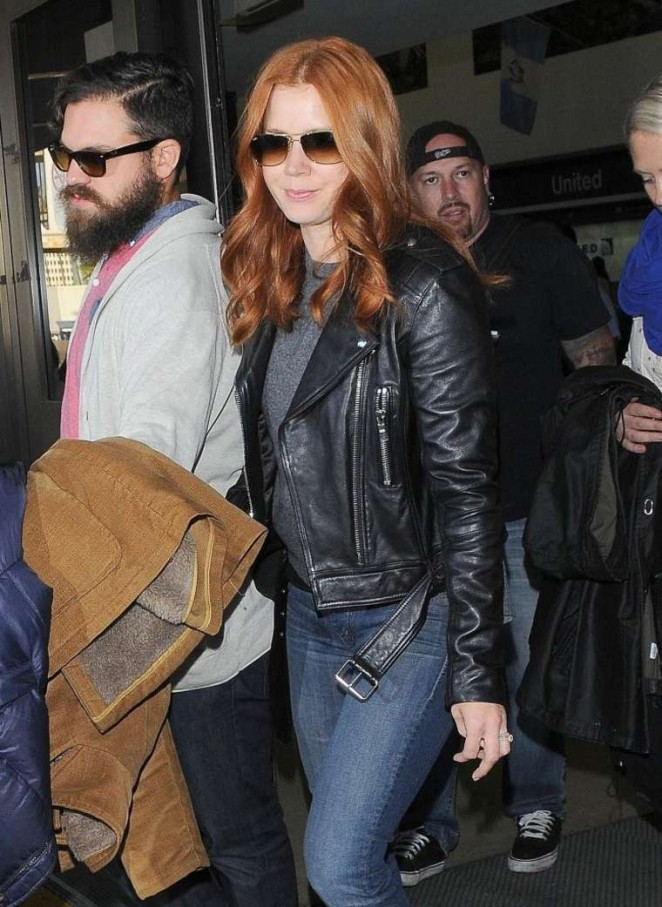 Amy Adams in Jeans at LAX -07