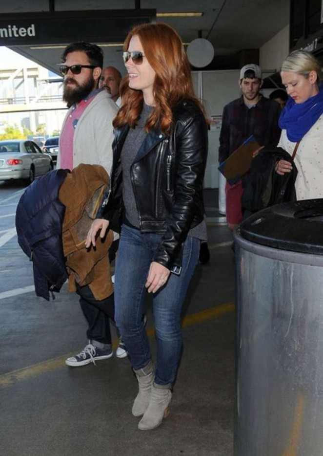 Amy Adams in Jeans at LAX -08