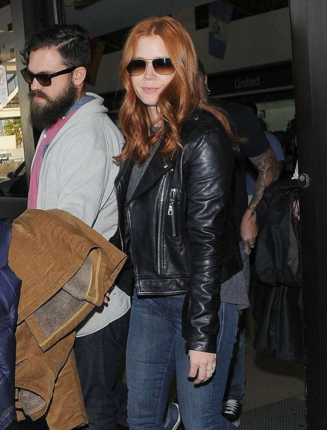 Amy Adams in Jeans at LAX -09