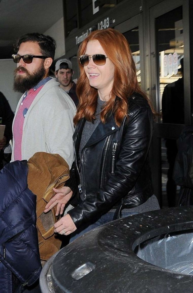 Amy Adams in Jeans at LAX -12