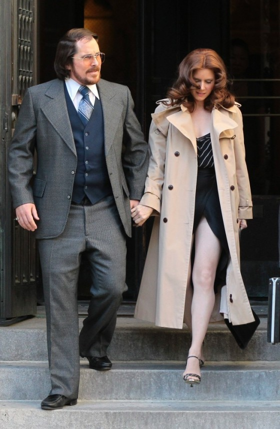 Amy Adams filming American Hustle in Boston -28