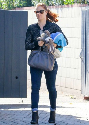 Amy Adams in Tight Jeans Out in Studio City