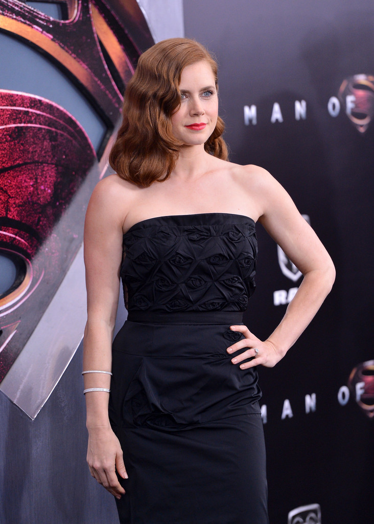 Superman Man Of Steel premiere with Amy Adams - mirror