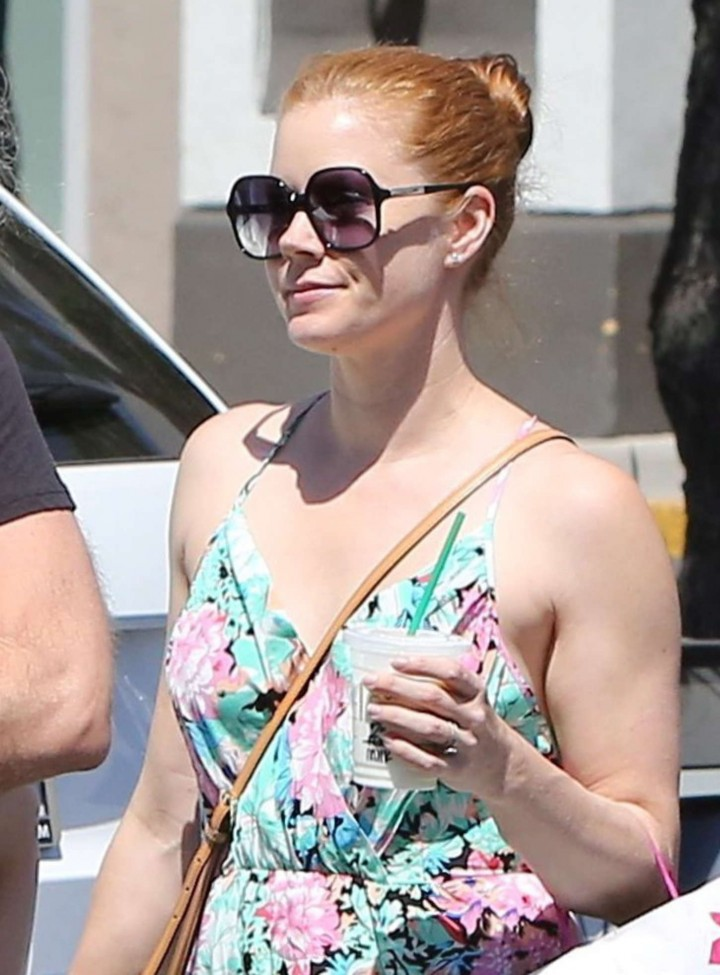Amy Adams in Floral Dress out in Beverly Hills
