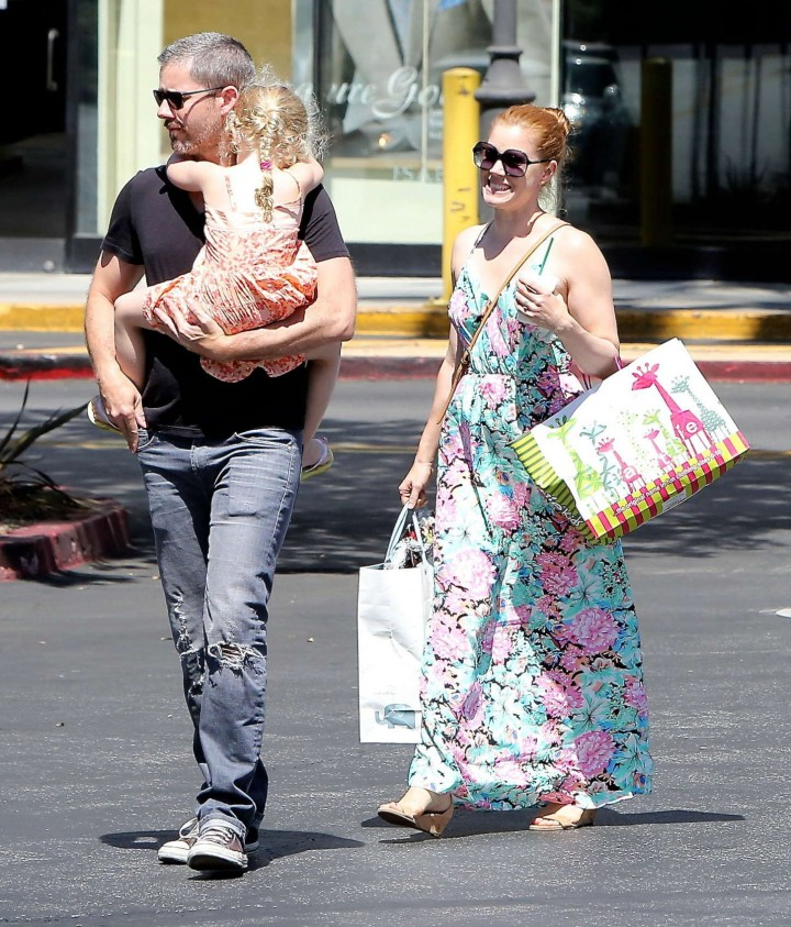 Amy Adams in Floral Dress -02