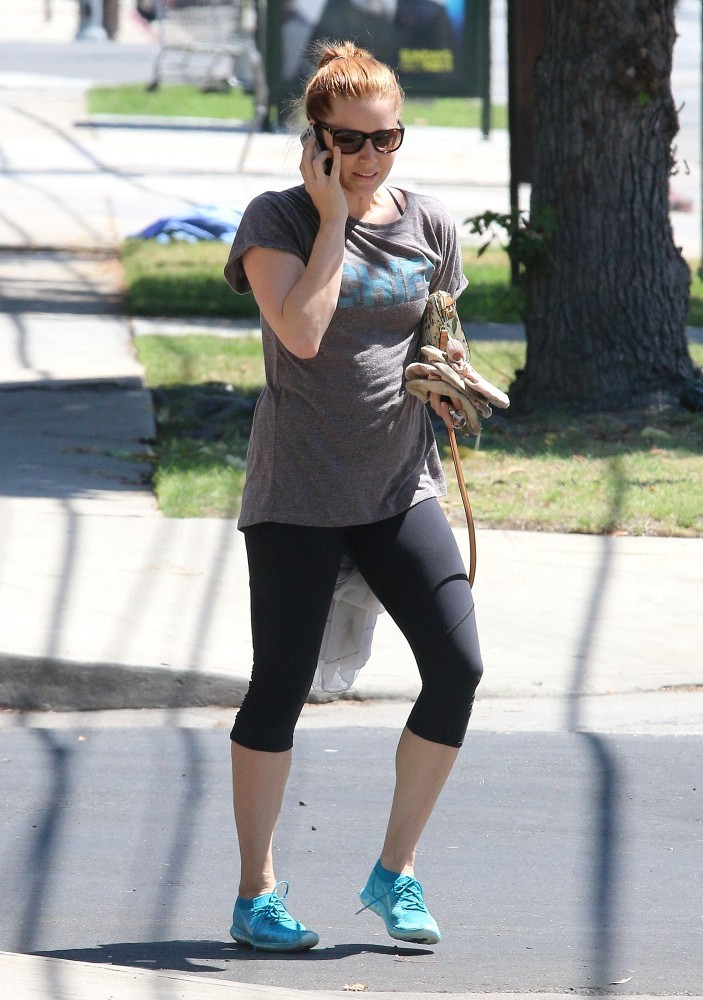 Amy Adams in Tight Leggings out in Studio City