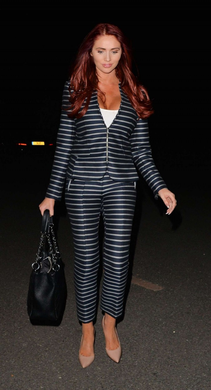 Amy Childs  - Arrives at Alec's Restaurant in London
