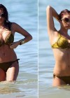 Amy Childs Bikini at a beach in Portugal-07
