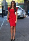 Amy Childs Hot In Red Dress in London-01
