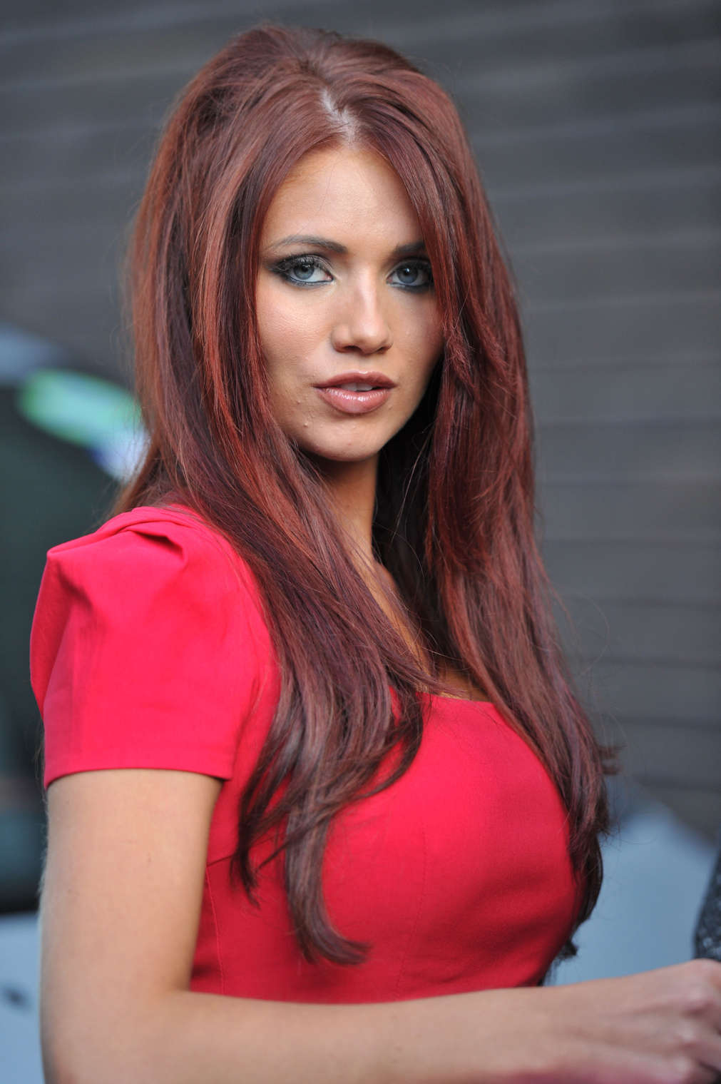 Amy Childs Hot In Red Dress In London 04 Gotceleb