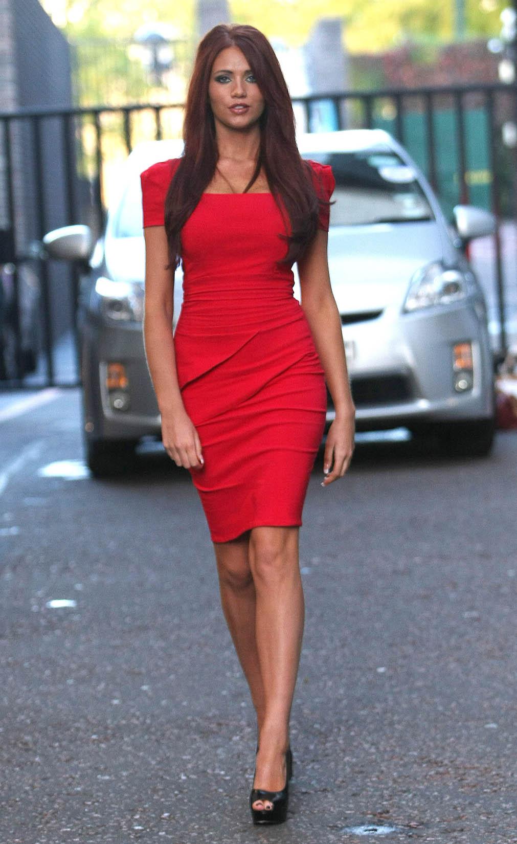 9da1ae017b2 Amy Childs Hot In Red Dress in London-05 – GotCeleb