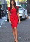 Amy Childs Hot In Red Dress in London-06