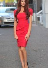 Amy Childs Hot In Red Dress in London-09