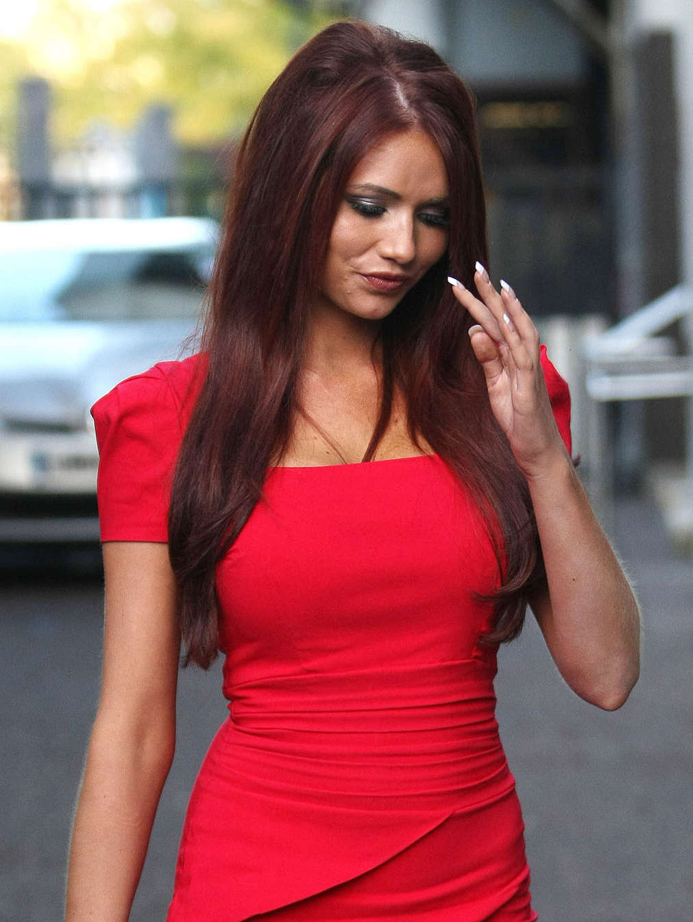 545cf477d79 Amy Childs Hot In Red Dress in London-12 – GotCeleb