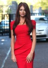 Amy Childs Hot In Red Dress in London-13