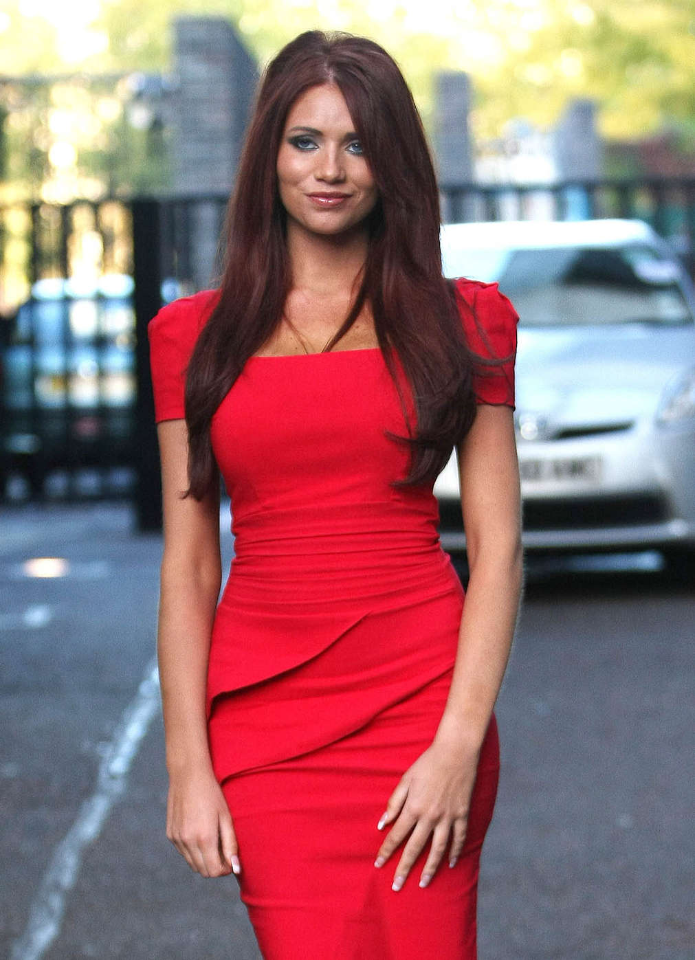 647635d4fcf Amy Childs Hot In Red Dress in London-13 – GotCeleb