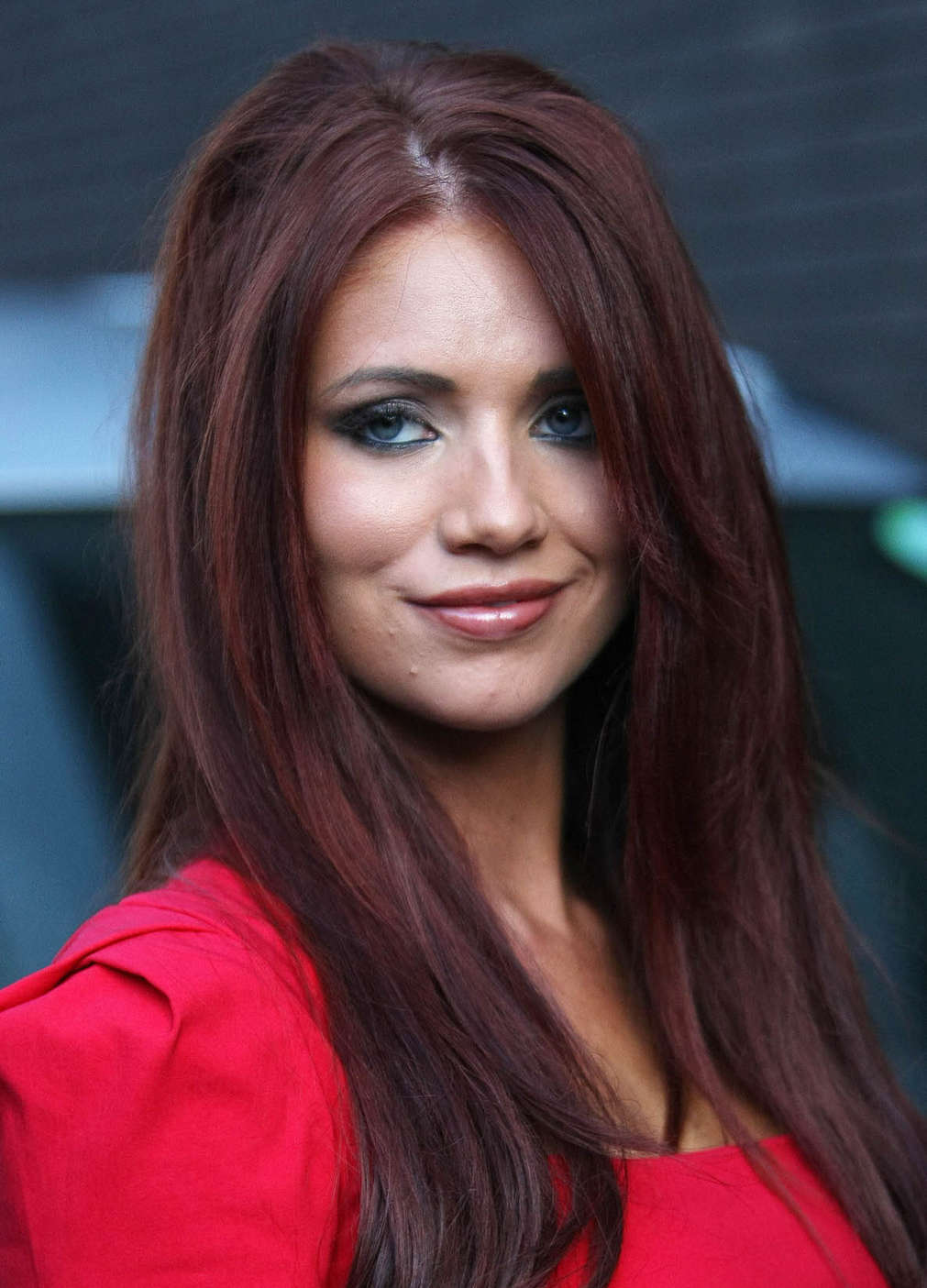 d92a73b9f1c Amy Childs Hot In Red Dress in London-14 – GotCeleb