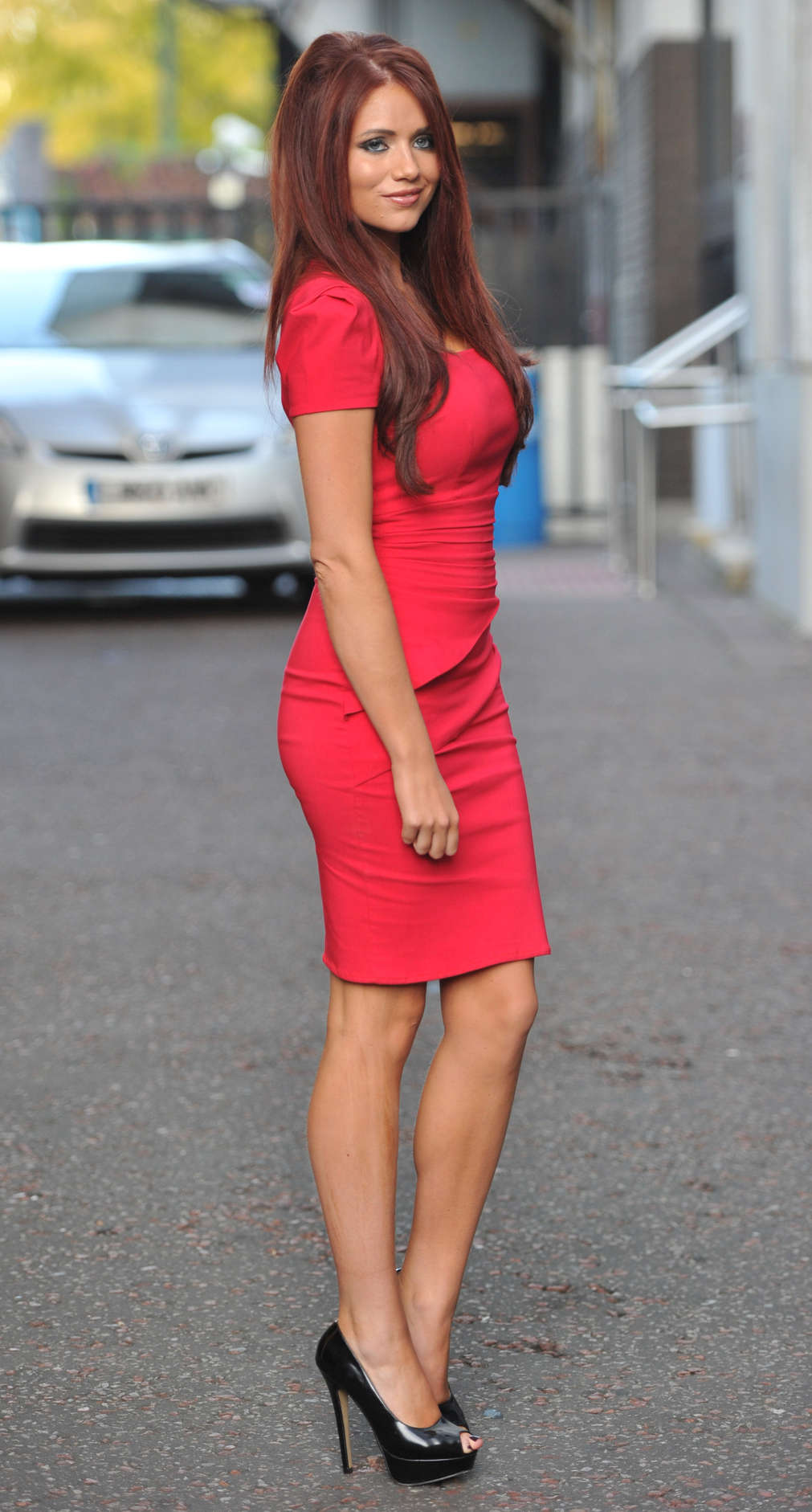 58ce35adbe1 Amy Childs Hot In Red Dress in London-15 – GotCeleb