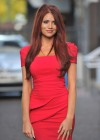 Amy Childs Hot In Red Dress in London-16