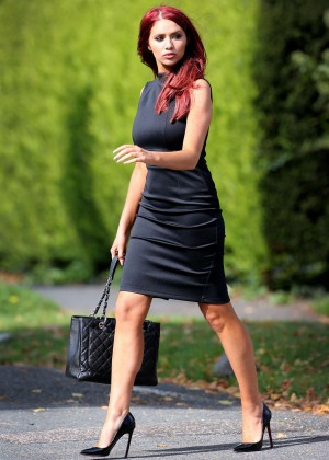 Amy Childs in Tiht Dress Out in Chigwell